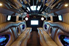 top of the line and high end finishes in our limos. Our limousines can fit from 1 to 20 people and caters to all events and occasions.