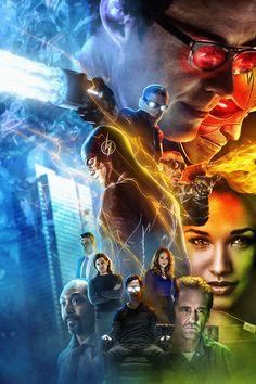 Fan poster of season 1 of 'The Flash'