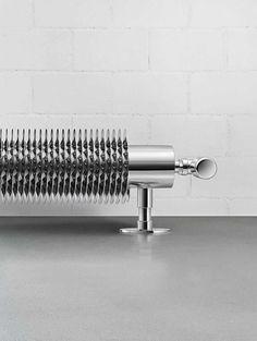 Radiateur à eau chaude / électrique / horizontal / en métal - FLOW FORM - Runtal