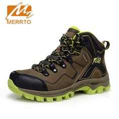 MERRTO 2016 Women Waterproof Hiking Shoes Genuine Leather Waterproof Trekking Shoes Outdoor Breathable Hiking Boots For Women #Affiliate