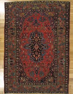 "Bakhtiari rug,South West Persia,circa 1890.Measurements of the piece:6'.7""x4'.7"" (201x140 cm). 