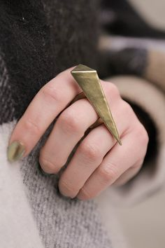 Hollow Formed NuGold Pyramid Ring