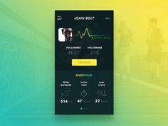 50 User profile page — Design Inspiration | by Muzli | Muzli - Design Inspiration Profile App, Profile Website, Ui Ux Design, Page Design, Usain Bolt, Daily Ui, Ui Design Inspiration, Profile Design, Data Visualization
