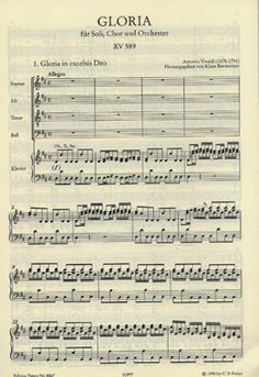 Day 348 : Vivaldi's Gloria New Thing: Vivaldi's Gloria Inspiration: St. Gloria In Excelsis Deo, Chor, My Forever, Sheet Music, Singing, Day, Posts, Orchestra, Messages