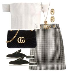 """Untitled #4371"" by theeuropeancloset ❤ liked on Polyvore featuring Gucci and Native Gem"