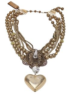 PUREVILE heart beaded necklace