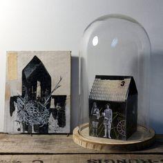 "Art: Peinture originale sur carton ""Le nid"""