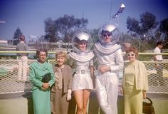 Space Girl and Space Man, in the Tomorrowland section of Disneyland, August 1961