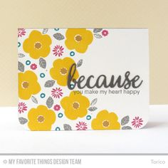 Pretty Posies, Because You - Torico  #mftstamps