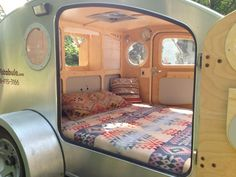Large And Luxurious Bedroom On Wheels...the inside of my teardrop trailer!