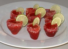 Good Cocktails - Strawberry Margarita and Strawberry Daiquiri Jello Shots Recipe