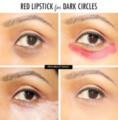 How To Cover Dark Circles With A Red lipstick – THEINDIANSPOT.COM