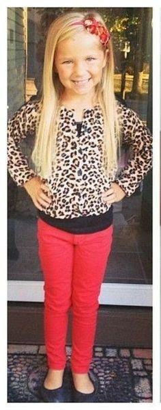 If she attends Lee next year, Leopard Print is on the list of okay uniform prints!