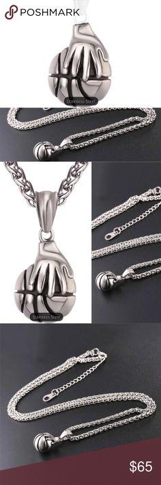 I Love Basketball Hip Hop Pendant Necklace/Chain I Love Basketball Palm Pendant Necklace Rock Hip Hop Stainless Steel Sport Necklaces Fans Men Jewelry Gentlemanshop Accessories Jewelry