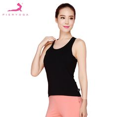 219a67c6cc PIERYOGA Special Back Cross Design Sleeveless Camisole Breathable Yoga  Women s Sports Fitness Top Vest-in Sports Bras from Sports   Entertainment  on ...