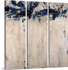 """Abstract wall art, such as """"Beethoven in Blue"""" can add a playful, surprising dimension to any room. Find this triptych canvas print at GreatBIGCanvas.com"""