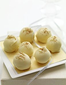 white chocolate eggnog truffles, can't wait for christmas! :)