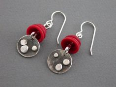 SMaddock Distressed Granulation Silver Earrings by smaddockdesigns, $48.00