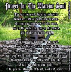 wiccan warrior prayer | Prayer for The Warrior Soul | Towards the Norse