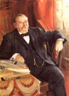 """22 and 24)  03/18/1837 -  Stephen Grover Cleveland was the 22nd and 24th President of the United States, Mayor of Buffalo, NY. Born in Caldwell, NJ. """"in Grover Cleveland the greatness lies in typical rather than unusual qualities. He had no endowments that thousands of men do not have. He possessed honesty, courage, firmness, independence, and common sense. But he possessed them to a degree other men do not."""""""