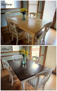 DIY refinishing dining room set