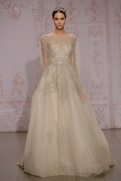 Pin for Later: Would You Be a Brave Bride in a Coloured Wedding Dress? Go For Gold Monique Lhuillier