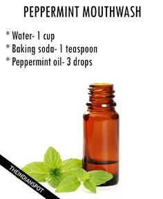 Apple cider vinegar mouthwash: Ingredients: Apple cider vinegar- 2 tablespoons Water- 1 cup Method: Mix the ingredients well and it is good to use. Just shake well before using the mouthwash. Gargle for 5 secs instead of mouthwash after meals to cure bad breath. Mouthwash with peppermint essential oil: Ingredients: Water- 1 cup Baking soda- …