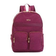 Tina Laptop Backpack - Deep Plum Combo | Kipling