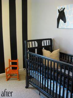 Baby Boy Safari Room with Orange