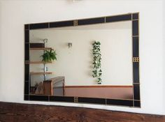 Your place to buy and sell all things handmade Mirror Brackets, Art Deco Mirror, Charles Rennie Mackintosh, Oversized Mirror, My Etsy Shop, Range, Check, Home Decor, Style
