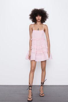 I'm Absolutely Not Okay Over These 27 New Zara Items – decolletedress White Dress Summer, Summer Dresses, Tulle Dress, Dress Up, Vestidos Zara, Birthday Dresses, Zara Dresses, Mannequin, Affordable Fashion