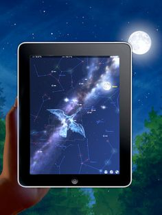GETTING THIS!   Look through the eyes of your iPhone or iPad* to see a virtual window into the whole visible universe.    All you have to do is point your iPhone/iPad* at the sky and Star Chart will tell you exactly what you are looking at.    Using state of the art GPS technology, an accurate 3D universe, and all of the latest high tech functionality, Star Chart calculates – in real time - the current location of every star and planet visible from Earth and sho
