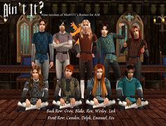 Ain't It: 9 recolors for Mio's Romeo for AM Back Row, Front Row, Renaissance Fashion, Medieval Clothing, Sims 2, The Body Shop, Camden, Italian Style, Middle Ages