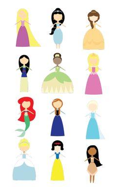 disney princess icon set by student Breeanna McCook