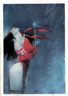 """travisellisor: """" the cover to The Comics Journal #107 by Bill Sienkiewicz """""""