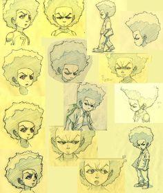 Anatomy Sketches, Art Sketches, Cartoon Drawings, Cartoon Art, Boondocks Drawings, Rapper Art, Dog Illustration, Dope Art, Comic Artist