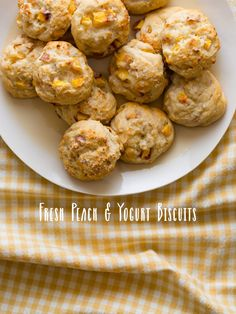 Fresh Yellow Peach and Yogurt Drop Biscuits - they are light, airy, a little sweet, and have a perfectly crisp exterior.
