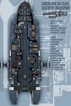 Lantallian GX-Class Exec. Transport by boomerangmouth on deviantART