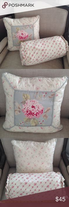 Two Pillows Simply Shabby Chi By Rachel Ashwell Two Pillows: -One Throw Pillow (16inches x 16inches by 3inch deep) -One Bolster Pillow (16inchse long x 8inches High). If you live in Chicago you could do a pick up for a lower price. Please ask any questions... Target Other