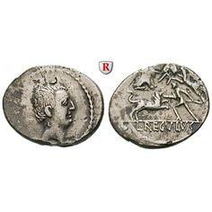 Römische Republik, L. Livineius Regulus, Denar 42 v.Chr., ss-vz: L. Livineius Regulus 42 v.Chr. Denar 20 mm 42 v.Chr. Rom. Kopf des… #coins