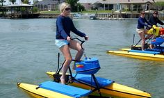 Buoyant bikes float atop waterways and come equipped with compartments for fun…