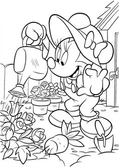 Minnie Mouse Coloring Pages Printable - Free Coloring Sheets Diy Coloring Books, Garden Coloring Pages, Cartoon Coloring Pages, Disney Coloring Pages, Coloring Pages To Print, Coloring Book Pages, Coloring Pages For Kids, Coloring Sheets, Kids Coloring