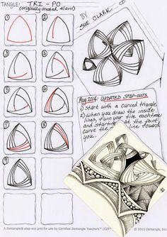 Tri Po~Zentangle