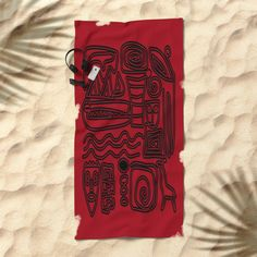 Africa Red Beach Towel by mirimo | Society6