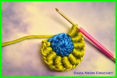 Dada Neon Crochet: Bullion Stitch Tutorial - My new favourite crochet stitch!