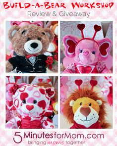 Build-A-Bear Valentine's Day bears review & #giveaway