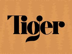 Tiger typography — a little Didone strangeness going on here — but the letterforms are intriguing. #typography #handlettering
