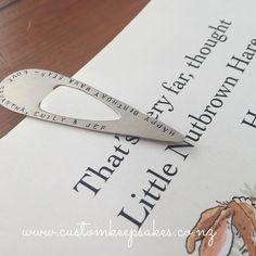 Custom stamped bookmark.  Shop at http://ift.tt/1Khhi4U or via the link in my bio #customkeepsakesnz  #nzmade #handcraftnz #madeinnz  #bookworm #bookmark  #personalisedgifts