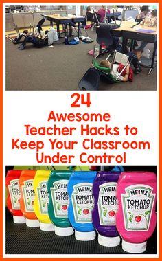 24 Awesome Teacher Hacks to Keep Your Classroom Under Control – Bored Teachers Toddler Teacher, Toddler Classroom, Kindergarten Classroom, School Classroom, Classroom Behaviour, Behavior, Kindergarten Worksheets, Future Classroom, Classroom Hacks