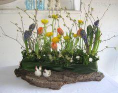 Bloemstuk Tafelstuk Pasen Voorjaar